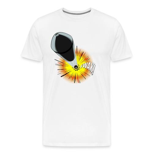 Gunshot, 3D comicbook, bullet hole, chest t-shirt - Men's Premium T-Shirt