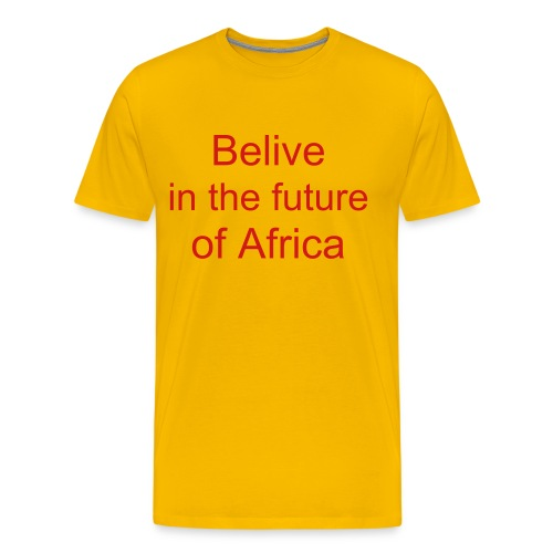 Akon: Believe in the future of Africa - Men's Premium T-Shirt