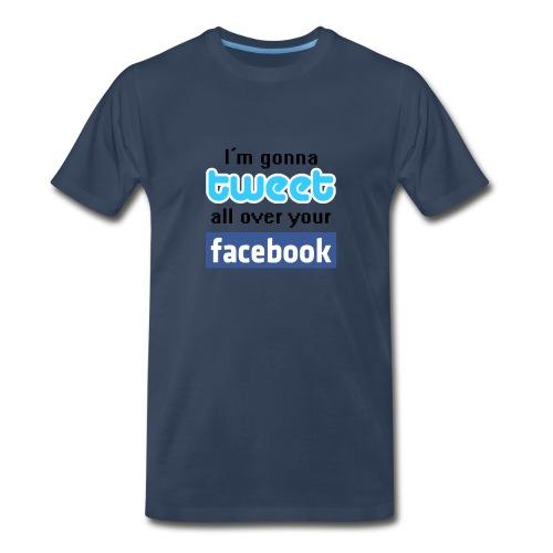 Twitter_Facebook - Men's Premium T-Shirt