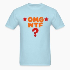 Sky blue omg wtf TXT shirt with ? T-Shirts