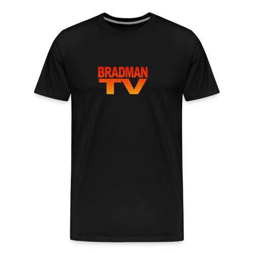 Mini logos in Big Logo Bradman Tee - Men's Premium T-Shirt