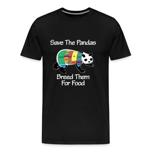 Panda Breeding - dark - Men's Premium T-Shirt