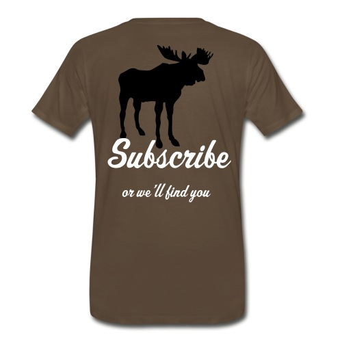 brown moose - Men's Premium T-Shirt