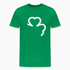 Kelly green shamrock cloverleaf leaf T-Shirts