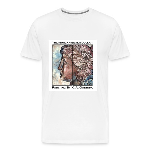 Morgan Silver Dollar Obverse Men's T-shirt - Men's Premium T-Shirt