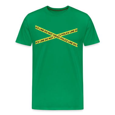 Kelly green police line do not cross CSI T-Shirts