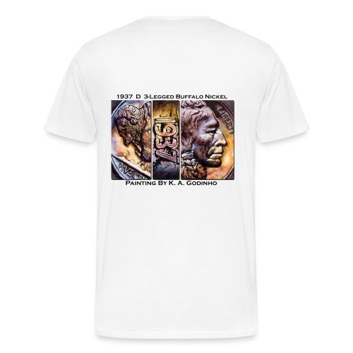1937 D 3-Leg Buffalo Men's T-shirt  - Men's Premium T-Shirt