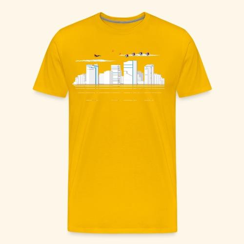 pixelSkyline - Men's Premium T-Shirt