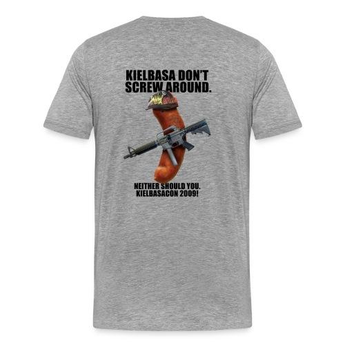 KielbasaCon 2009 Shirt : Men (Graphic on back) - Men's Premium T-Shirt