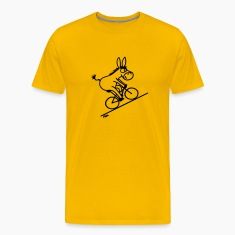 Gold Biking Donkey T-Shirts