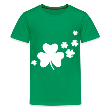 Kelly green Shamrocks Kids' Shirts