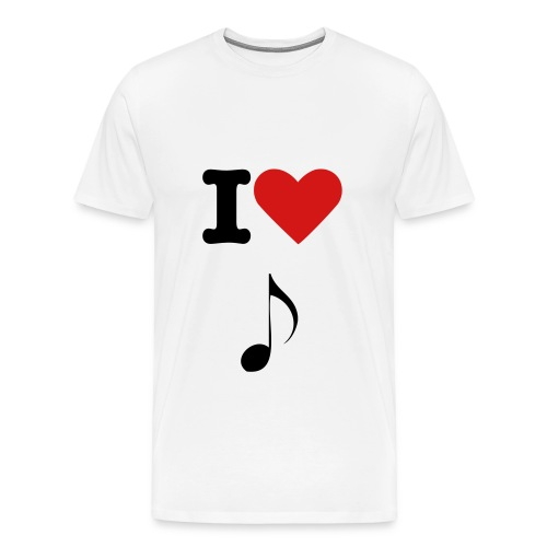 I heart music - Men's Premium T-Shirt