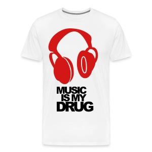 Music is My Drug - Men's Premium T-Shirt