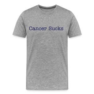 Cancer Sucks Navy - Men's Premium T-Shirt