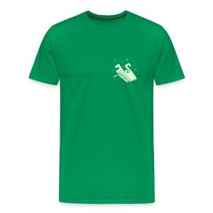 Wolf (smoking, glowing) Mens Heavyweight T-Shirt - Men's Premium T-Shirt