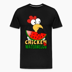 Black Chicken & watermelon T-Shirts