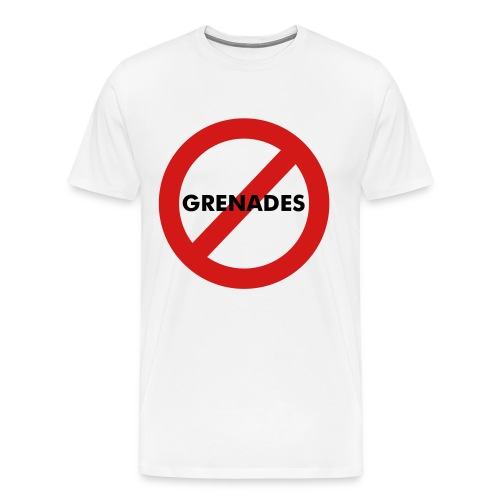 No Grenades!- Mens White Tee - Men's Premium T-Shirt