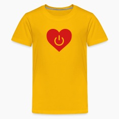Yellow power of love v1 Kids' Shirts