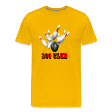 Gold Bowling Team 300 Club T-Shirts