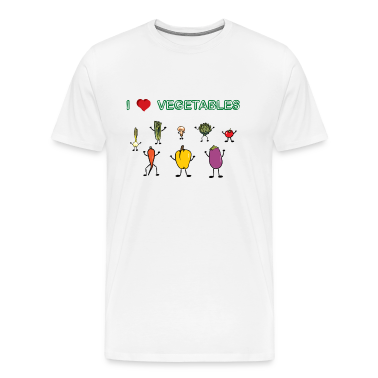 Natural I love vegetables T-Shirts