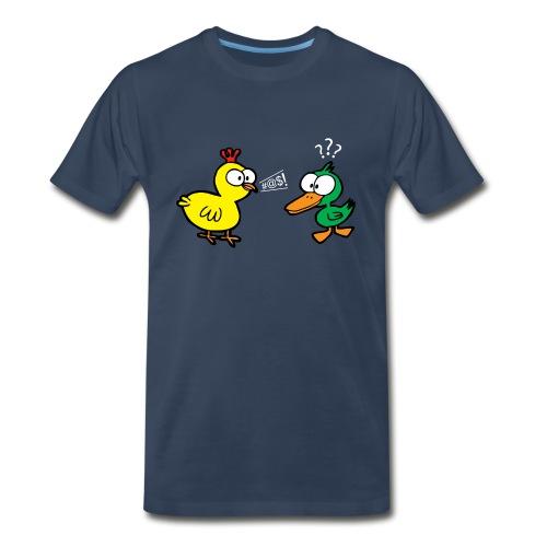 Chicken Talks to Duck! Men's Tee - Men's Premium T-Shirt