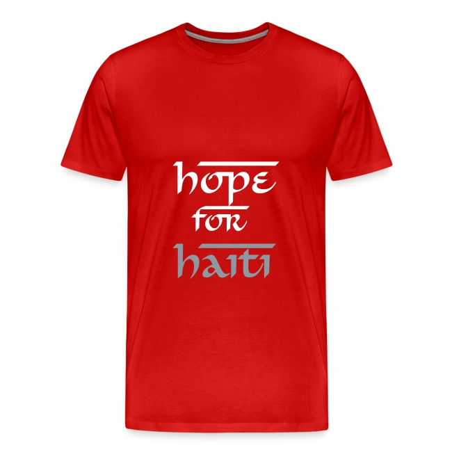Hope for Haiti silver and white