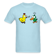 T-Shirts ~ Men's T-Shirt ~ Chicken Talks to Duck! Men's Tee