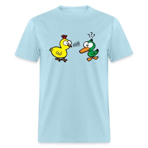 Chicken Talks to Duck! Men's Tee - Men's T-Shirt
