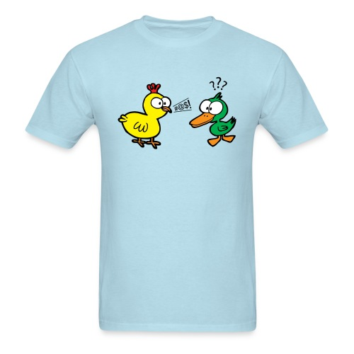 Chicken Talks to Duck! Men's Tee - Men's T-Shirt
