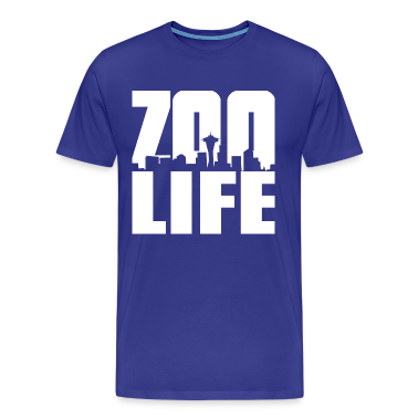Royal blue ZOO LIFE  T-Shirts