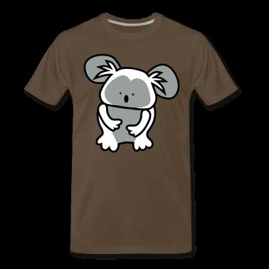 Brown simple cute koala bear T-Shirts