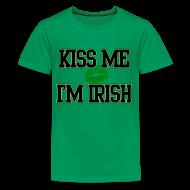 Kids' Shirts ~ Kids' Premium T-Shirt ~ Kiss Me Im Irish Kids T-shirt, Kids St Patricks Day T-Shirt