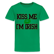 Kids' Shirts ~ Kids' Premium T-Shirt ~ Kiss Me Im Irish Kids T-shirt, Kids St Patricks Day T-Shirt