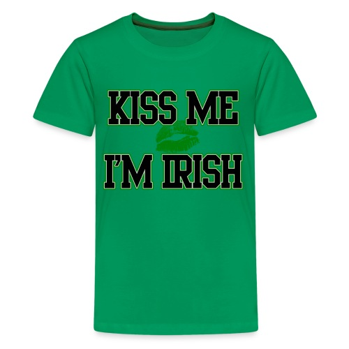 Kiss Me Im Irish Kids T-shirt, Kids St Patricks Day T-Shirt - Kids' Premium T-Shirt