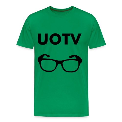 UOTV Glasses T-Shirt (Green) - Men's Premium T-Shirt