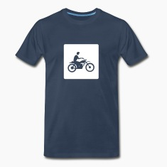 Navy motorcycle-moped-vehicle-mode of transport T-Shirts