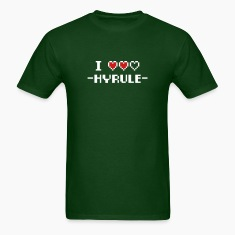 Forest green I Love Hyrule T-Shirts