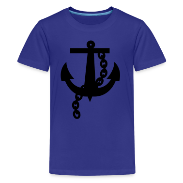 Turquoise ROCKABILLY anchor one Kids' Shirts