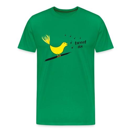 Men's Tweet As Tee - Men's Premium T-Shirt