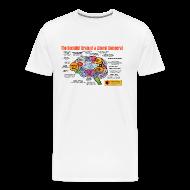 T-Shirts ~ Men's Premium T-Shirt ~ The Socialist Brain of a Liberal Democrat