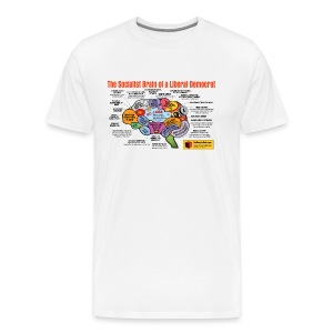 The Socialist Brain of a Liberal Democrat - Men's Premium T-Shirt