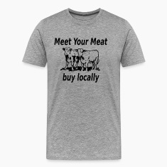 Heather grey meet your meat beef T-Shirts