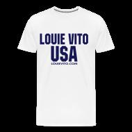 T-Shirts ~ Men's Premium T-Shirt ~ Mens LV USA tee front LV Back