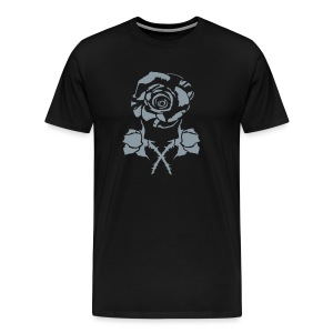 silver rose and crossbud - Men's Premium T-Shirt