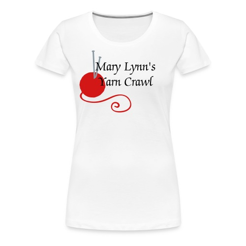 Yarn Crawl (Plus sized T) - Women's Premium T-Shirt