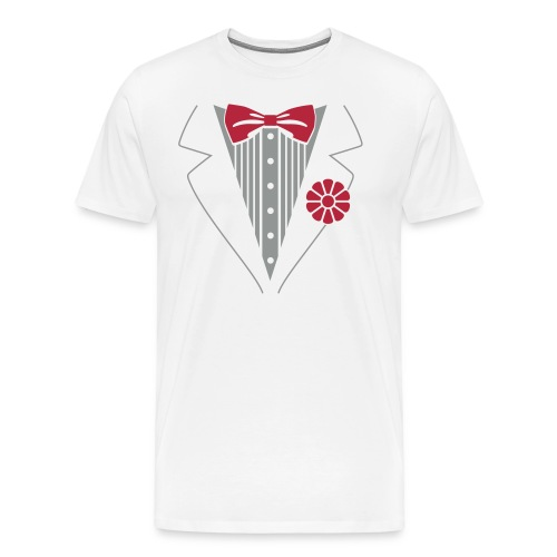 Tuxedo T-Shirt Whit - Men's Premium T-Shirt
