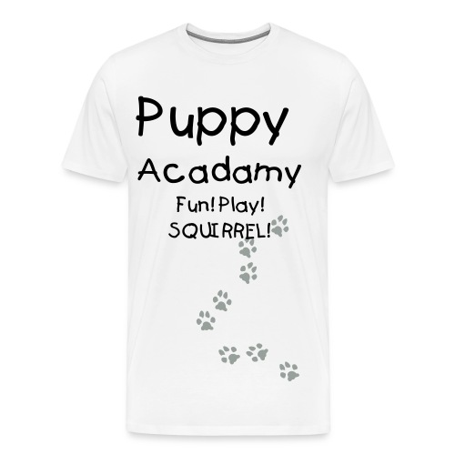 Puppy Acadamy for a distracted puppy - Men's Premium T-Shirt