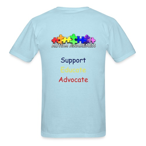 Support Educate Advocate - Men's T-Shirt