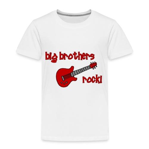 Big Brothers Rock! with Guitar - Toddler Premium T-Shirt