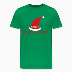 Forest green SANTA WANTS A LAP DANCE christmas design T-Shirts